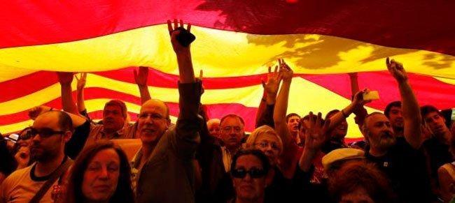 Grupo de independentistas catalanes (EFE)
