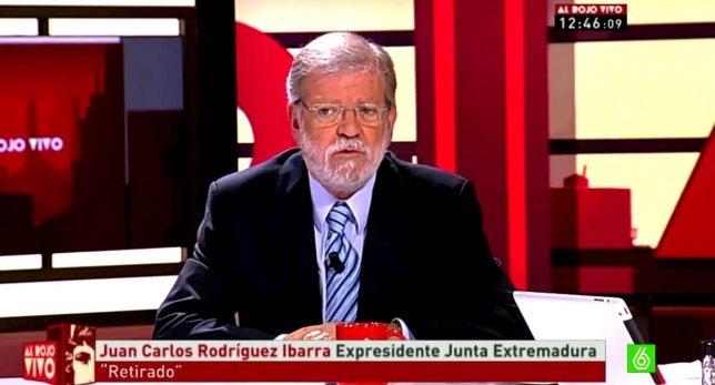 """Juan Carlos Rodríguez Ibarra en """"Al Rojo Vivo"""""""