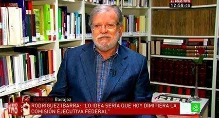"""Entrevista a Rodríguez Ibarra en """"Al Rojo Vivo"""""""