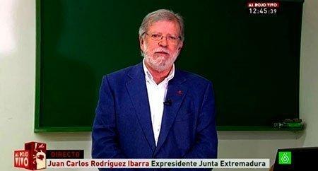 """Intervención de Rodríguez Ibarra en """"Al Rojo Vivo"""""""