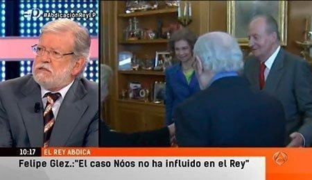 """JCRI en """"Espejo Público"""", entrevistado con motivo de la abdicación del Rey"""
