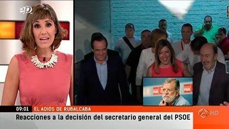 """Intervención telefónica en """"Espejo Público"""" tras el anuncio del abandono de la política de Rubalcaba"""