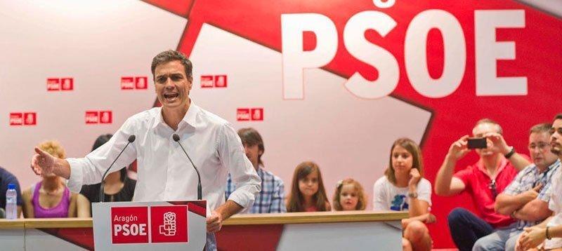 El candidato Pedro Sánchez