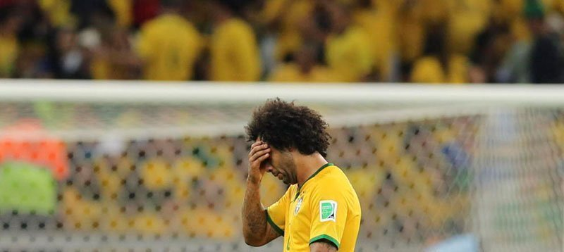ElEl defensa Marcelo, durante el partido Brasil-Alemania