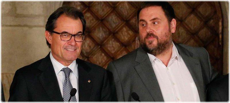 Artur Mas y Oriol Junqueras. (Reuters)