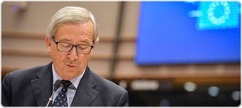 Juncker comparece ante la Eurocámara para hablar del Luxleaks. (Efe)