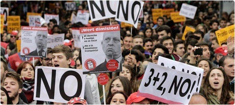 Manifestación contra el '3+2' en Madrid. (Efe)