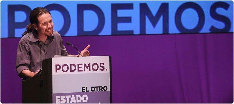 El secretario general de Podemos, Pablo Iglesias, durante su intervención en 'El otro estado de la Nación'. (Efe)