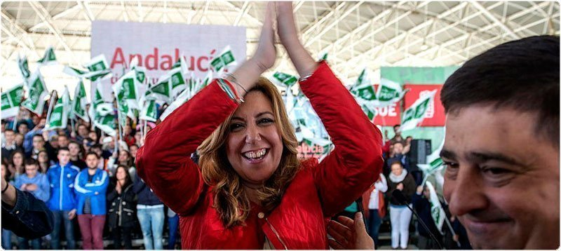 La candidata del PSOE a la Presidencia de la Junta de Andalucía, Susana Díaz. (Efe)