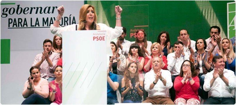 Susana Díaz, en un mitin en Alcalá de Guadaíra. (Efe)