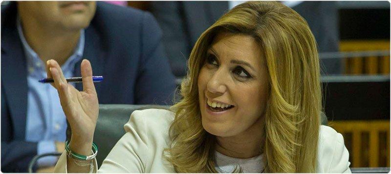 La presidenta de la Junta de Andalucía en funciones, Susana Díaz, en la segunda jornada del debate de investidura este martes. (EFE)