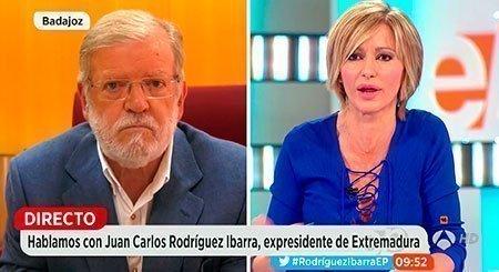 Momento de la entrevista de Sussana Griso a JCRI
