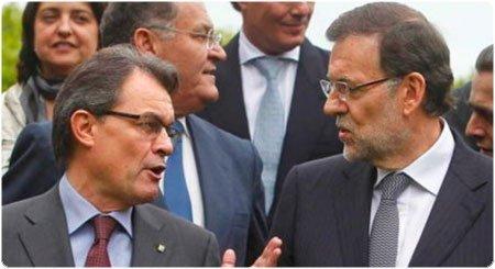 Mas y Rajoy. EFE