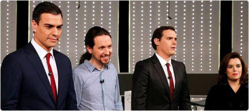 Participantes en el debate a 4. Foto: EFE