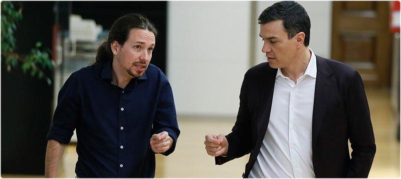 Sánchez e Iglesias. (EFE)
