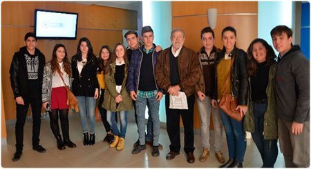 """Estudiantes del IES """"Maestro Juan Calero"""" con JCRI"""