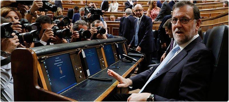 Mariano Rajoy en el Congreso. Foto: EFE