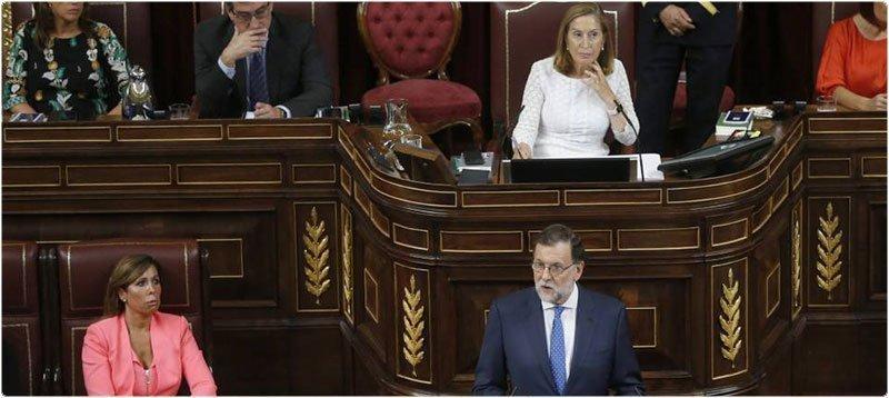Mariano Rajoy durante el Debate de Investidura