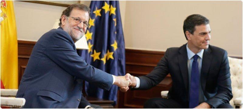 Reunión entre Rajoy y Sánchez. Foto: GTRES