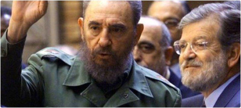 Fidel Castro y Rodríguez Ibarra. Foto: Diario Hoy