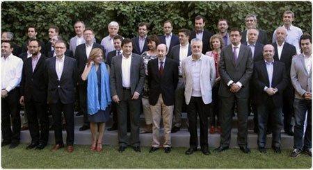 """Firmantes de la """"Declaración de Granada"""". EFE"""