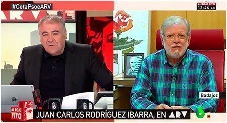 Antonio Ferreras entrevistando a JCRI