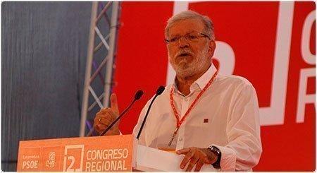 JCRI durante su intervención en el 12 Congreso Regional del PSOE de Extremadura