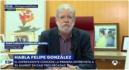 Entrevista a JCRI en Espejo Público (Antena3)