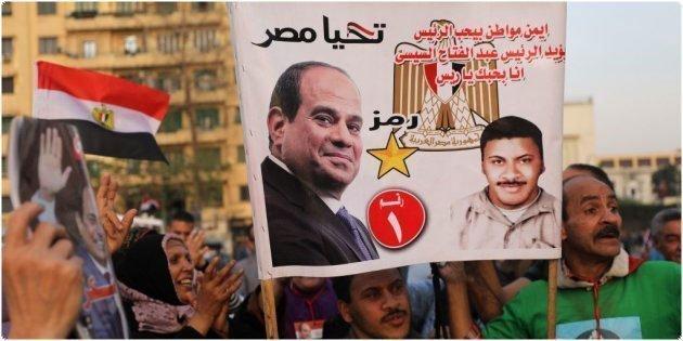 Partidarios de Abdelfatá al Sisi celebran su reelección el pasado 2 de abril.