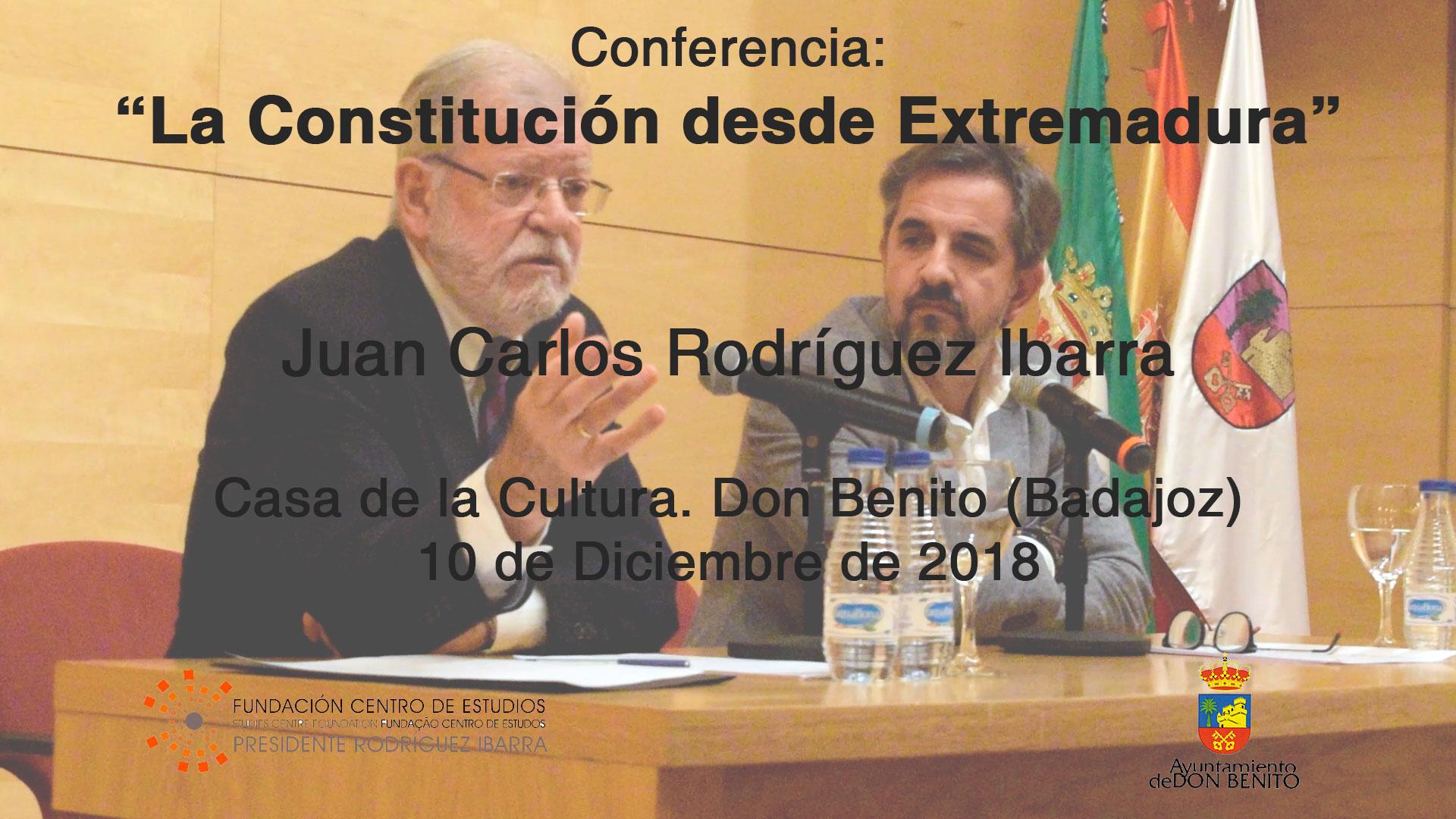 Conferencia: la Constitución desde Extremadura