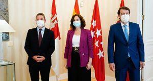 Los Presidentes de Castilla la Mancha, Madrid y Castilla y León