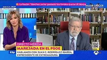 Entrevista a Rodríguez Ibarra en Espejo Público