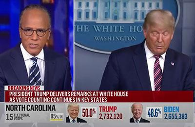 Lester Holt corta a Trump
