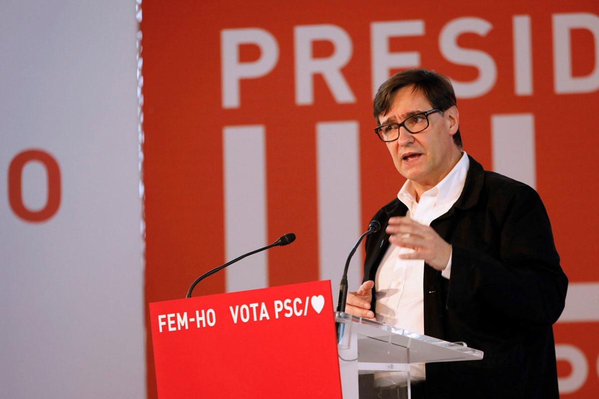 El candidato del PSC a la Generalitat, Salvador Illa. EFE