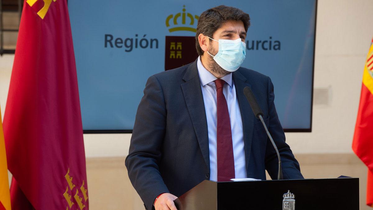 El presidente de la Región de Murcia, Fernando López Miras. Europa Press